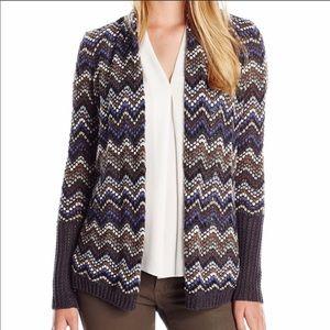 Nic + Zoe Chevron Open Knit Cardigan Size M